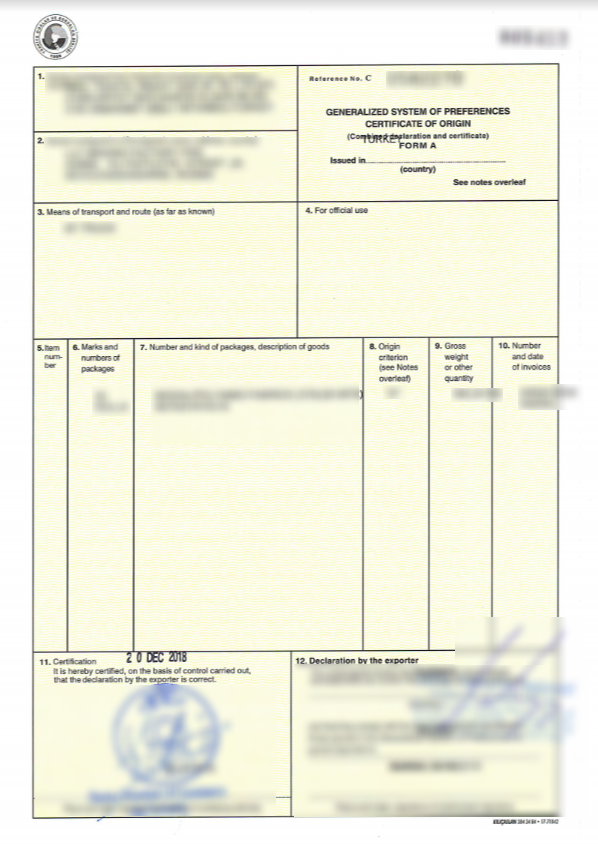Оформление сертификата происхождения СТ-1