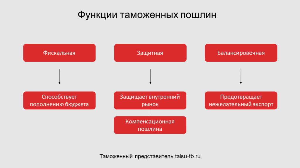 Функции таможенных пошлин
