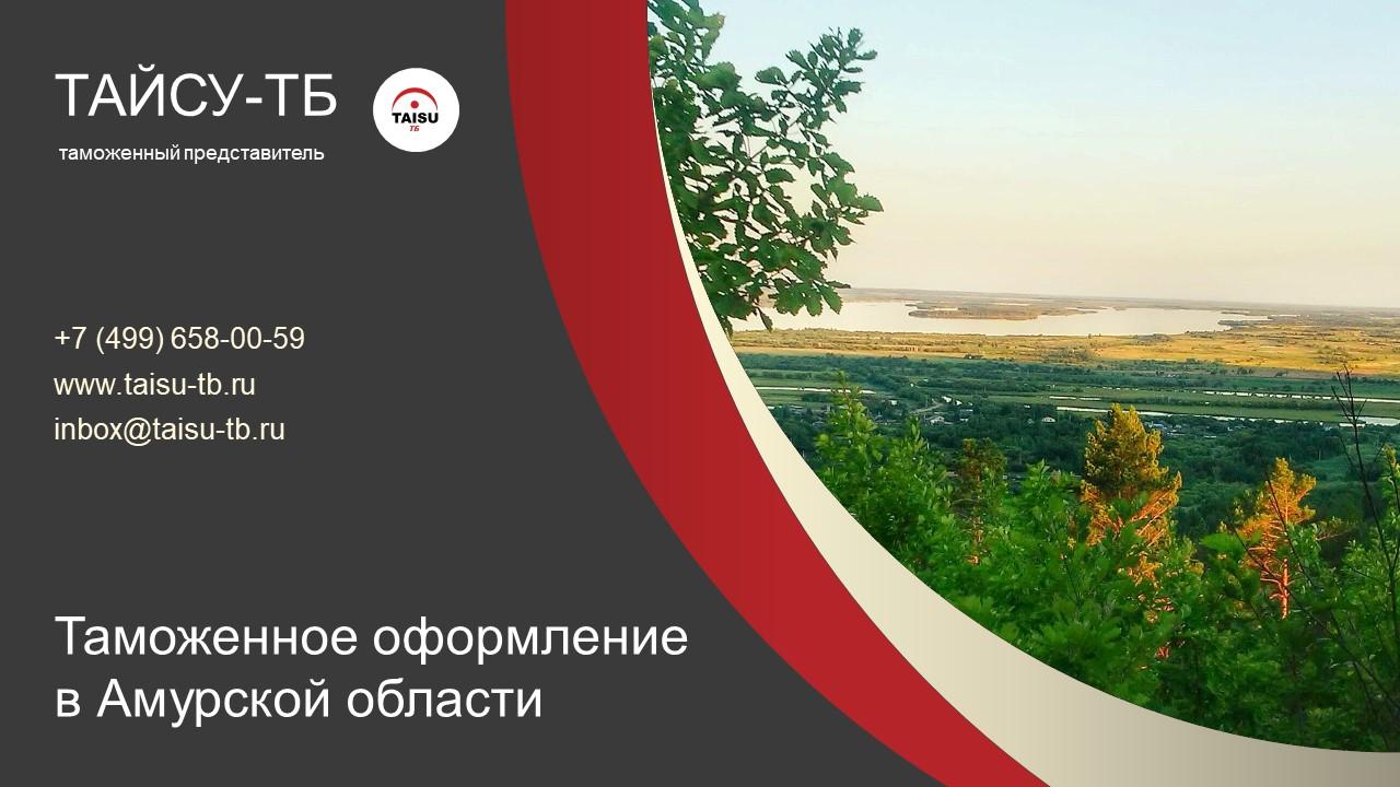 Таможенное оформление в Амурской области